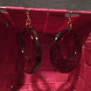 Jewelry - Leopard 🐆 print hoop earrings